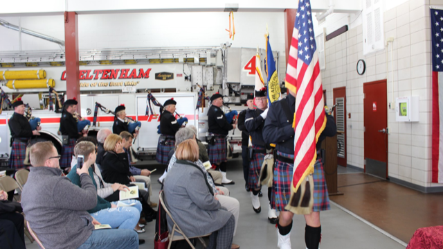 Thank you Philadelphia Police  & Fire Pipes and Drum Band.