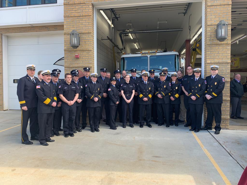 Officers and Members of Cheltenham Fire Company.