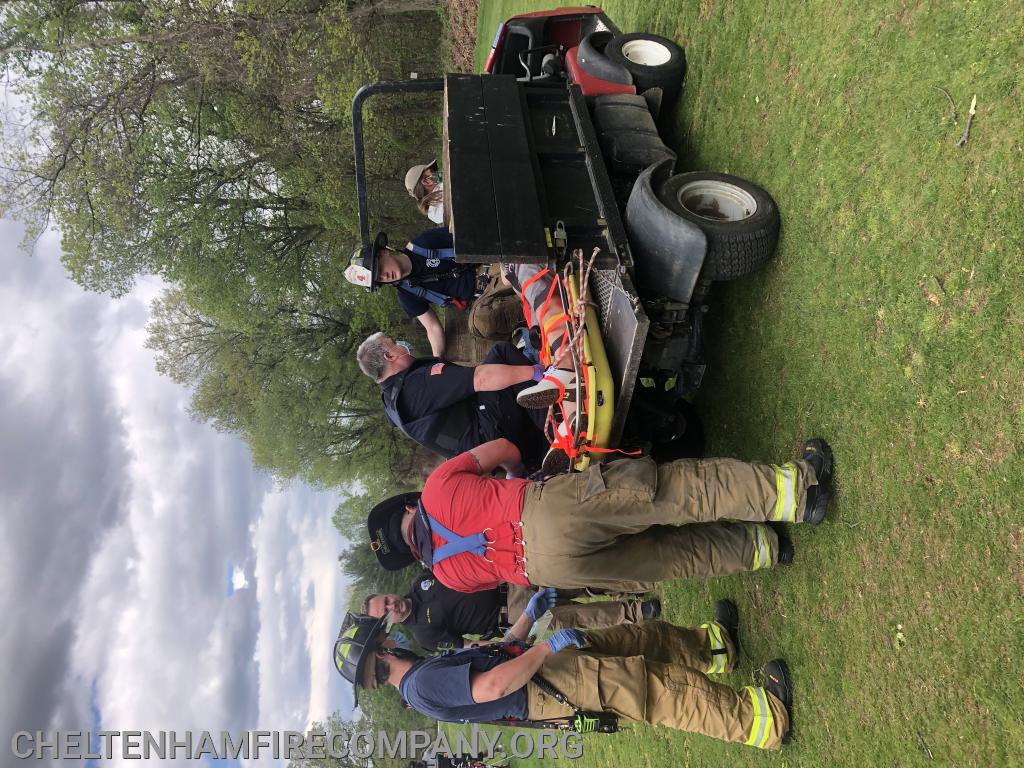 Assisting Cheltenham EMS to evacuate injured golfer